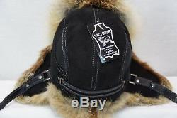 100% GENUINE RED FOX Fur REAL LEATHER Unisex Trapper Ushanka Bomber Winter Hat 4