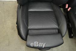 BMW E90 M3 Black Leather Heated Seats Front Rear Seat Set Genuine Oem 2008-2013