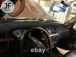 Black Stitching Dash Dashboard Real Leather Cover Fits Nissan Patrol Y61