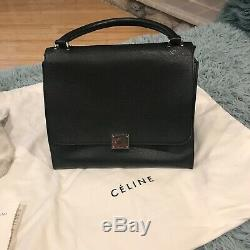 Celine Trapeze GENUINE bag Black Leather And Suede