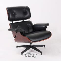 Eames Style Chair & Ottoman 100% Top Eames Leather Lounge Chair Genuine Rosewood