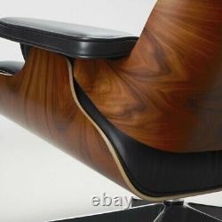 Eams Lounge Chair and Footstool Ottoman 100% Real Leather Palisander In Stock