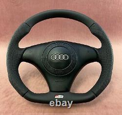 Flat Bottom Steering Wheel A4 S4 (b5) Genuine New S4 Badge! New Leather