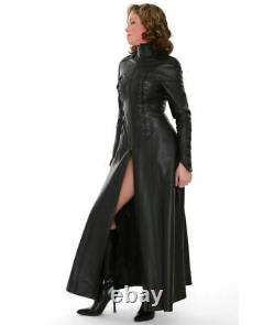 Genuine Leather Gown Lederoverall Corset Gown Sexy Dress Flared Gown kinky Dress