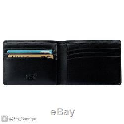 Genuine Montblanc Meisterstuck 6cc Black Leather Wallet 14548. Free Shipping
