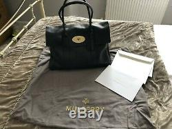 Genuine Mulberry Black Leather Bayswater Tote Bag Fantastic Condition