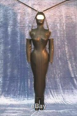 Genuine Real Leather Gothic Domina Dress Escapology Corset Hobble Laced Magic