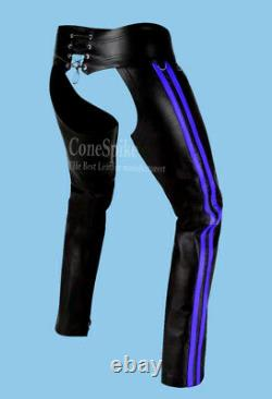 Genuine leather chaps, men's motorbike pant, most attracting gay pant