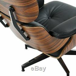 HIGH-END Eames Lounge Chair and Ottoman Replica, Premium Real Leather, NEW MODEL