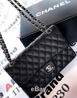 HIGH quality Black Quilted Real Leather Double Flap Bag. Flawless. Brand New