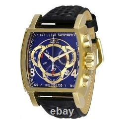 Invicta S1 Rally 27931 Men's Blue/ Gold-Tone Genuine Leather Chronograph Watch