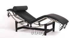 LC4 Chaise Lounge Chair Recliner Genuine Italian Leather Designer Furniture