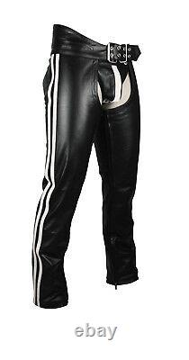 Men's Real Leather Chaps With Leather Brief /Leather Bikers Chaps BLUF Chaps