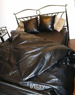 NAPPA LEATHER BED SHEET with PILLOW Cases and duvet over 100% genuine