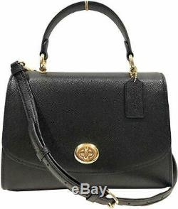 New Authentic Coach F76618 Tilly Top Handle Satchel Genuine Crossgrain Leather