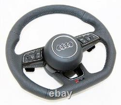 New Genuine Audi Rs A3 S4 A5 S5 A4 Q2 Full Perforated Complete Steering Wheel