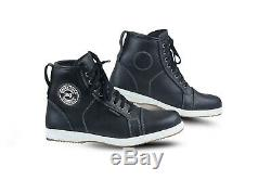 New Mens Sturgis Waterproof Motorcycle Casual Sneaker Real Leather Boot All size
