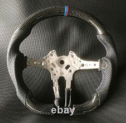 Real Carbon Fiber Flat Customized Steering Wheel for BMW M1 M2 M3 M4 F80 F82 15+