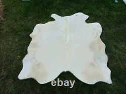 Real/genuine Cowhide Leather Rugs Tricolor Cow Hide Skin Carpet Area 12-35 Sq Ft