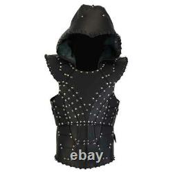 Real leather Armour LARP costume Leather Armour medieval Costume Black Armour