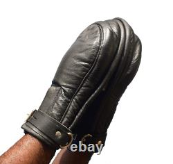 Top Quality Real leather padded gimp with lockable gloves Scream slave gimp