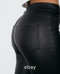 Women &Girls100%Genuine Lambskin Stretchable Leather Skinny fit Jeans Style pant