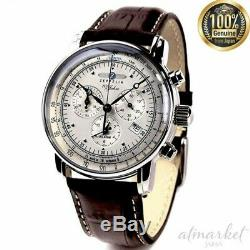 ZEPPELIN 7680-1 watch 100th anniversary ivory brown men's genuine from JAPAN