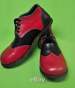 ZYKO Professional Real Leather Clown Shoes Chaplin model (ZH004) Red/Black